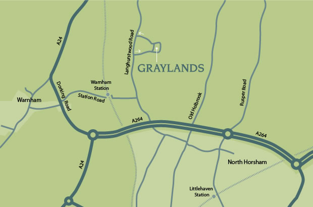 Drivers map of Graylands
